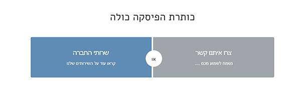אלמנטים שונים הניתנים לשילוב בעמוד הבית של האתר
